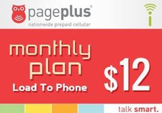 Picture of Page Plus Monthly $12 - Load To Phone