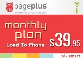 Picture of Page Plus Monthly $39.95 - Load To Phone