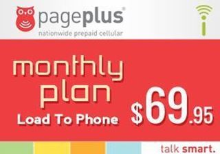 Picture of Page Plus Monthly $69.95 - Load To Phone