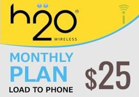 Picture of H2O Monthly Plan $25.00 - Load To Phone