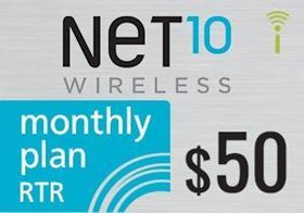 Picture of Net10 Monthly Plan RTR $50.00