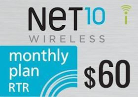 Picture of Net10 Monthly Plan RTR $60.00