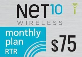 Picture of Net10 Monthly Plan RTR $75.00