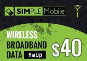Picture of SIMPLE Mobile Wireless Broadband Data - $40.00 - ReUp