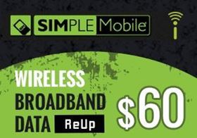 Picture of SIMPLE Mobile Wireless Broadband Data - $60.00 - ReUp