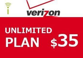 Picture of Verizon Unlimited Plan $35.00
