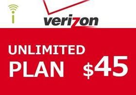 Picture of Verizon Unlimited Plan $45.00