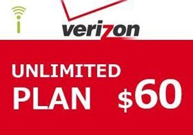 Picture of Verizon Unlimited Plan $60.00