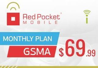 Picture of Red Pocket Mobile Monthly Plan GSMA $69.99