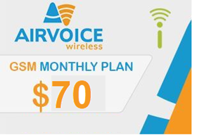 Picture of Airvoice GSM Monthly Plan $70.00